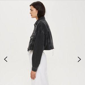 0e26aac178e Topshop Jackets   Coats - MOTO Hacked Off Cropped Denim Jacket BRAND NEW